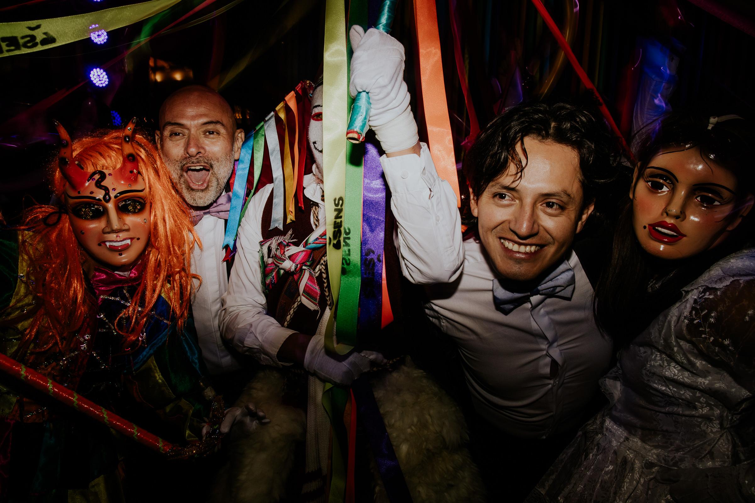 peru wedding wild party