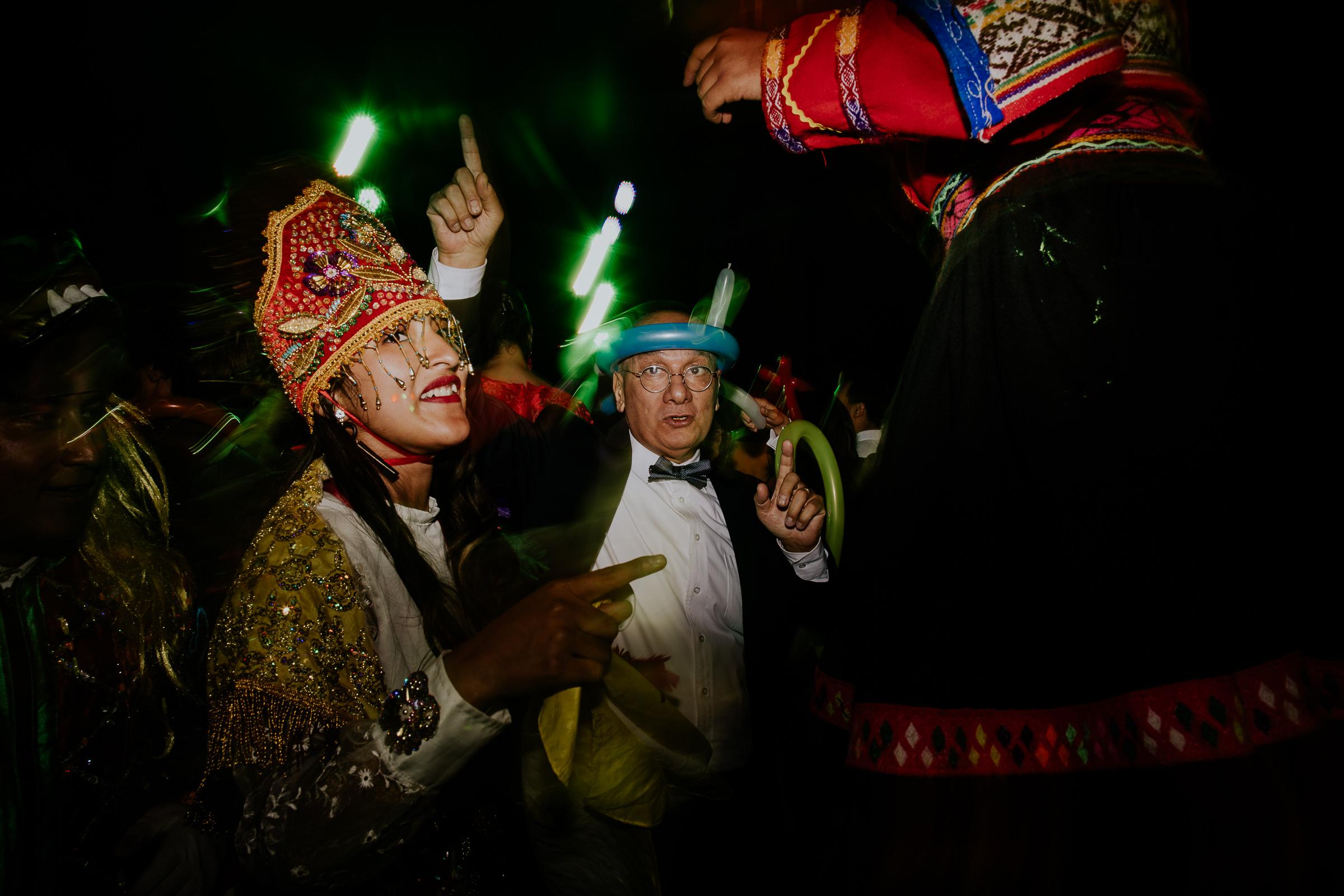 crazy hours peru wedding party