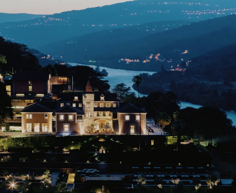river douro landscape at night view to hotel six senses